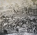 The Phillip Medhurst Picture Torah 319. The plague of flies. Exodus cap 8 v 24. Luyken and son.jpg