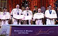 The President, Shri Pranab Mukherjee releasing the postal stamp at the special convocation of University of Mumbai, in Mumbai.jpg