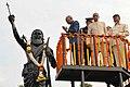 The President, Shri Ram Nath Kovind paying floral tribute at the Statue of Shri Alluri Sitarama Raju, at Visakhapatnam, in Andhra Pradesh.jpg