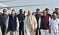 The Prime Minister, Shri Narendra Modi arrives, at Vadodara, Gujarat on October 22, 2016. The Governor of Gujarat and Madhya Pradesh, Shri O.P. Kohli and the Chief Minister of Gujarat, Shri Vijay Rupani are also seen.jpg