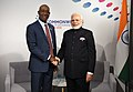The Prime Minister, Shri Narendra Modi meeting the Prime Minister of Trinidad and Tobago, Dr. Keith C. Rowley, on the sidelines of CHOGM 2018, in London on April 19, 2018.JPG
