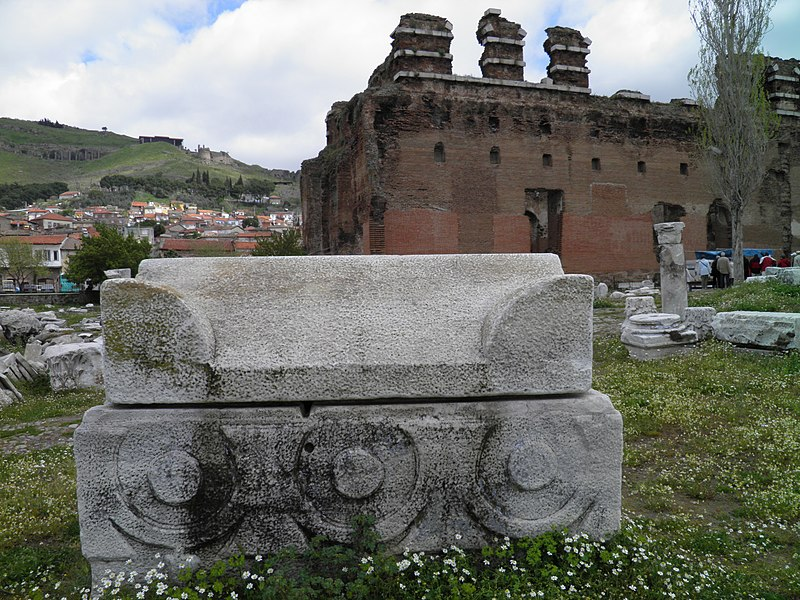 File:The Red Basilica, monumental ruined temple thought to ...