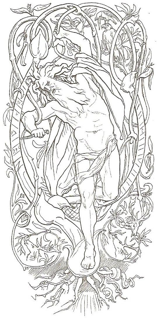 The Sacrifice of Odin by Frølich