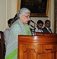The Union Minister for Culture, Smt. Chandresh Kumari Katoch addressing at the presentation of the Tagore Award for Cultural Harmony for the year 2013, at Rashtrapati Bhavan, in New Delhi on September 06, 2013.jpg
