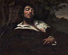 COURBET Gustave The Wounded Man 1844-1854