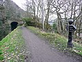 The first mile post on the Rochdale Canal, Sowerby Bridge - geograph.org.uk - 1169951.jpg