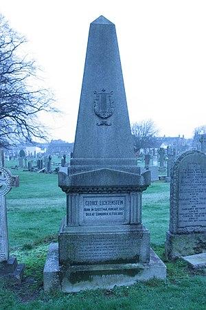 George Lichtenstein (musician) - The grave of George Lichtenstein, Morningside Cemetery, Edinburgh