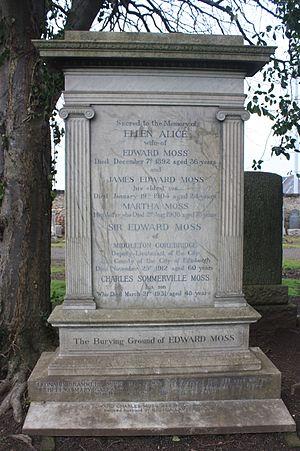 Edward Moss - The grave of Sir Edward Moss, Portobello Cemetery, Edinburgh
