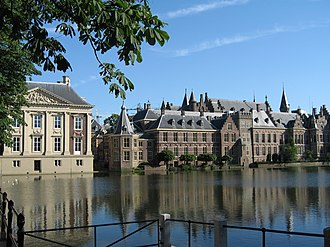 Cabinet of the Netherlands - The Hague's Binnenhof. The Ministry of General Affairs, where the cabinet meets every Friday, is in the centre