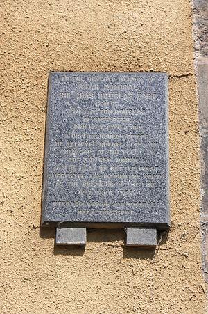 Sir Charles Douglas, 1st Baronet - The memorial to Admiral Charles Douglas, Greyfriars Kirkyard