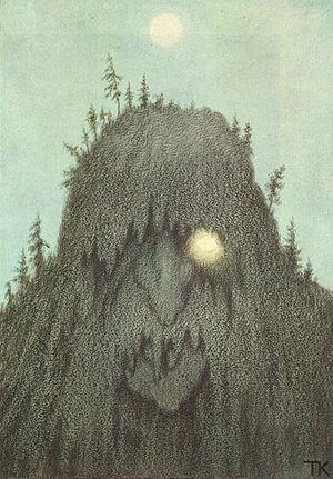 Forest troll. (Theodor Kittelsen, 1906).