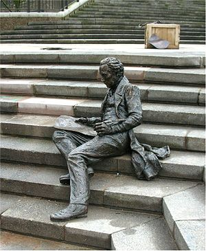 Thomas Attwood - Bronze statue in Chamberlain Square