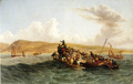 Thomas Baines - The British Settlers of 1820 Landing in Algoa Bay - 1853.png