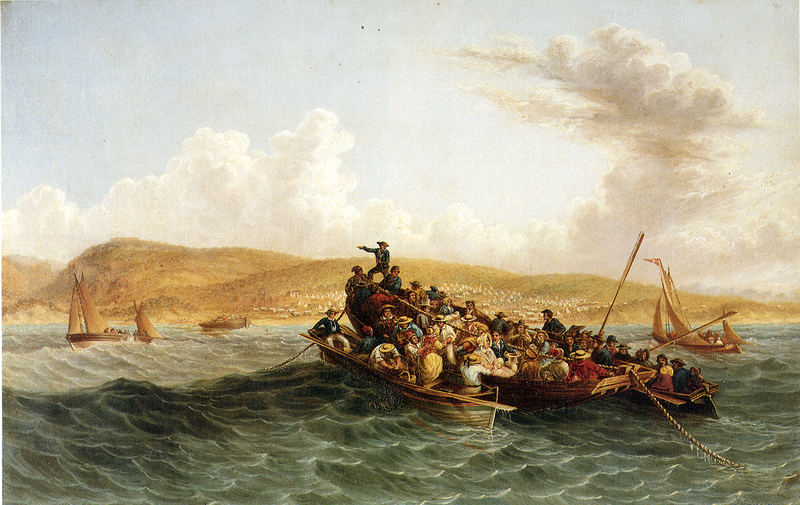 File:Thomas Baines - The British Settlers of 1820 Landing in Algoa Bay - 1853.png