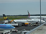 Thomas Cook Airlines (G-TCDF), Newcastle Airport, July 2014 (02).JPG