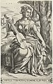 Tiburtijnse Sibille Sibylla Tyburtina, Nomina Albunea (titel op object) Sibillen (serietitel), RP-P-1887-A-12294.jpg