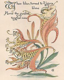 """Tiger lilies art from """"Flora's Feast"""" - The art of Walter Grane (page 173 crop).jpg"""