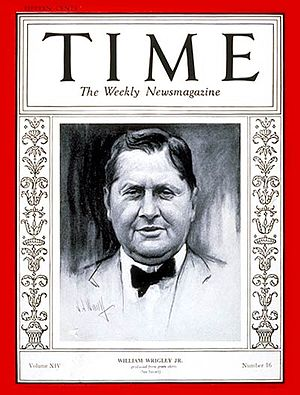 William Wrigley Jr. - Image: Time magazine cover william wrigley jr