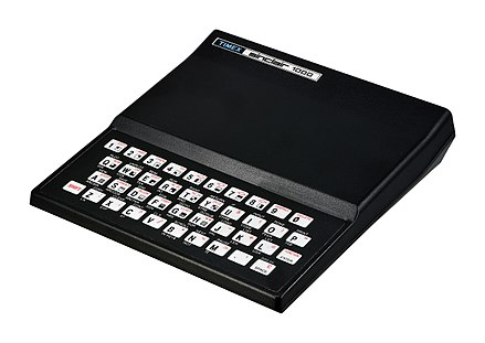 Timex Sinclair 1000, a U.S. version of the Sinclair ZX81 Timex Sinclair 1000 FL.jpg