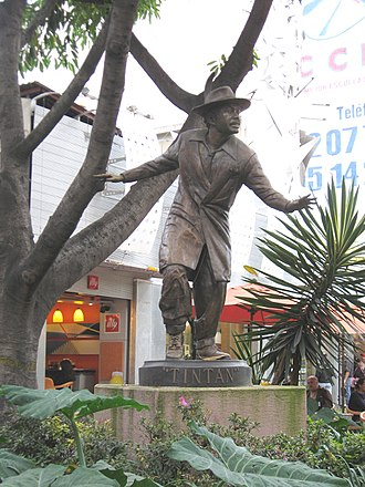 Germán Valdés - Statue of Tin Tan on Génova Street in Zona Rosa of Mexico City