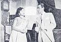 Tina Melinda and Chatir Harro in Ratu Kentjana Film Varia Jan 1956 p4.jpg