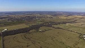 Tioga, Texas - Tioga, TX aerial view