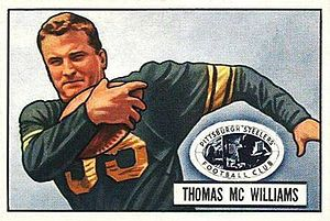 Shorty McWilliams - McWilliams on a 1951 Bowman football card