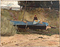 Tom Roberts - Boat on beach, Queenscliff. - Google Art Project.jpg