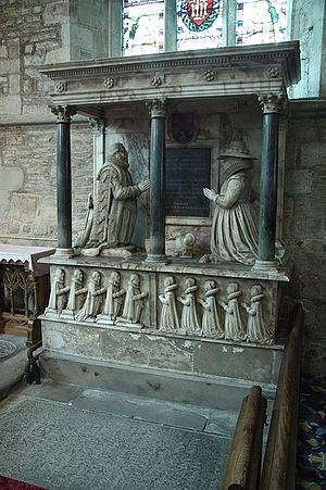 Ledbury - Funerary monument in St Michael and All Angels Church, Ledbury