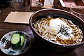 Tororo soba and tsukemono by niigata-ryokou in Niigata.jpg