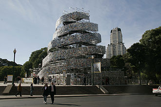 Culture of Argentina - Marta Minujín's Tower of Babel (2011)