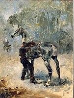 Toulouse-Lautrec - ARTILLEUR SELLANT SON CHEVAL, 1879, MTL.1.jpg