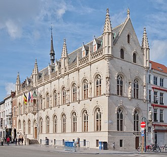 Kortrijk - The medieval city hall.