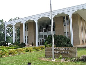 Towns County courthouse in Hiawassee