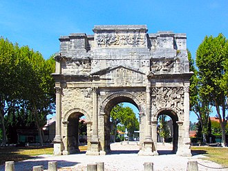 Provence - Triumphal Arch of Orange, first century AD