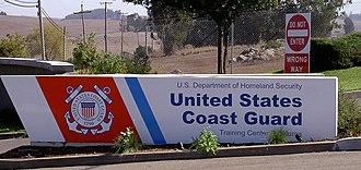 Training Center Petaluma - Entrance sign in 2008