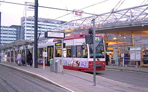 Tramlink stop at East Croydon railway station ...