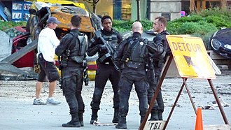 Transformers: Dark of the Moon - Image: Transformers 3Actors Set July 10