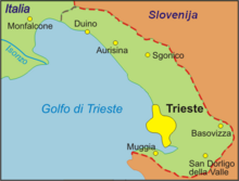 Map of the Province of Trieste.