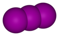 Spacefill model of triiodide