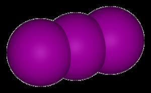 Triiodide - Image: Triiodide anion 3D vd W