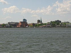 Trois-Rivières seen from the St. Lawrence River.