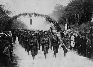 Royal Hungarian Army - Hungarian troops occupy Baranya that had previously been cleared by the Yugloslavian army, September 1921