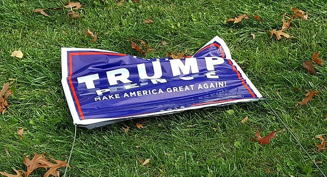 From commons.wikimedia.org: Trump sign - 2016-11-08 {MID-220866}