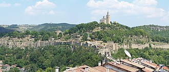 Uprising of Ivaylo - Panoramic view of Tarnovo, the capital of the Bulgarian Empire