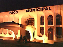 Tupã City Hall at night.jpg