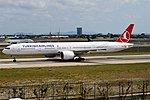 Turkish Airlines, TC-LJE, Boeing 777-3F2 ER (31423175568).jpg
