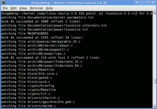 patch (Unix) text processing software