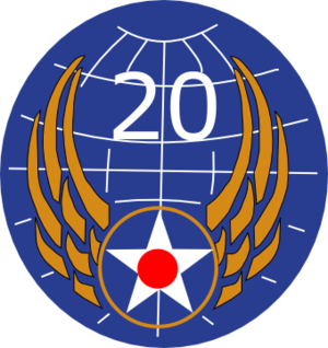 Dudhkundi Airfield - Image: Twentieth Air Force Emblem (World War II)