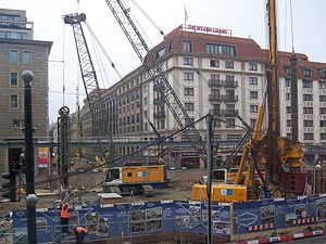Unter den Linden (Berlin U-Bahn) - Construction site in November 2012